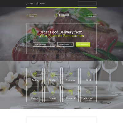 Delivery Services Responsive Landing Page Template 58223