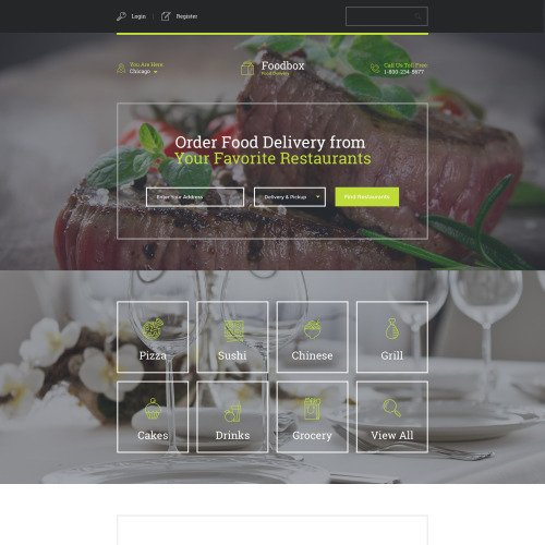 Foodbox - Responsive Landing Page Template