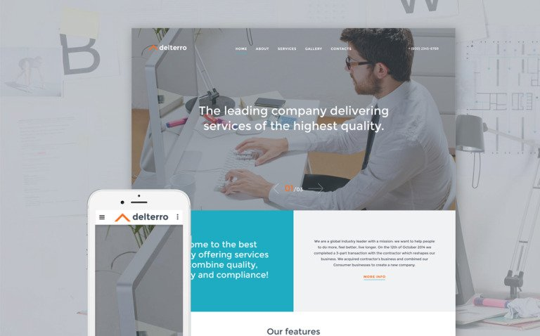 Delterro Website Template New Screenshots BIG