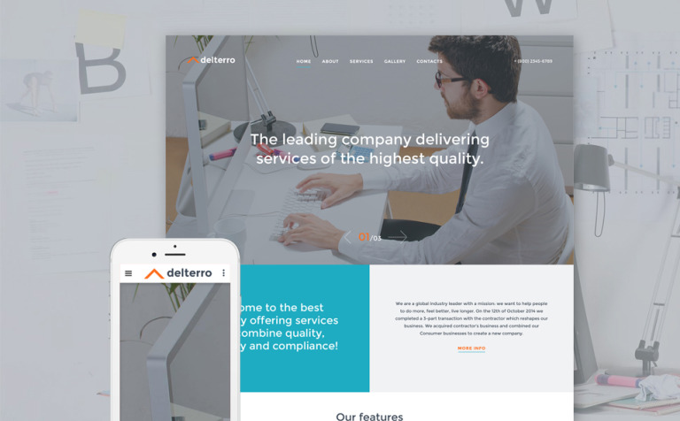 Delterro Website Template