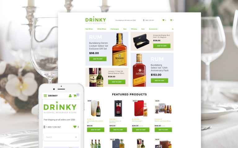 Drinky OpenCart Template New Screenshots BIG