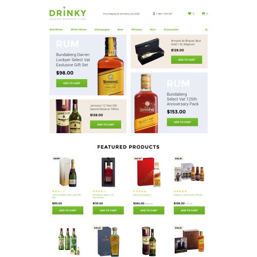 Drinky - OpenCart Template based on Bootstrap