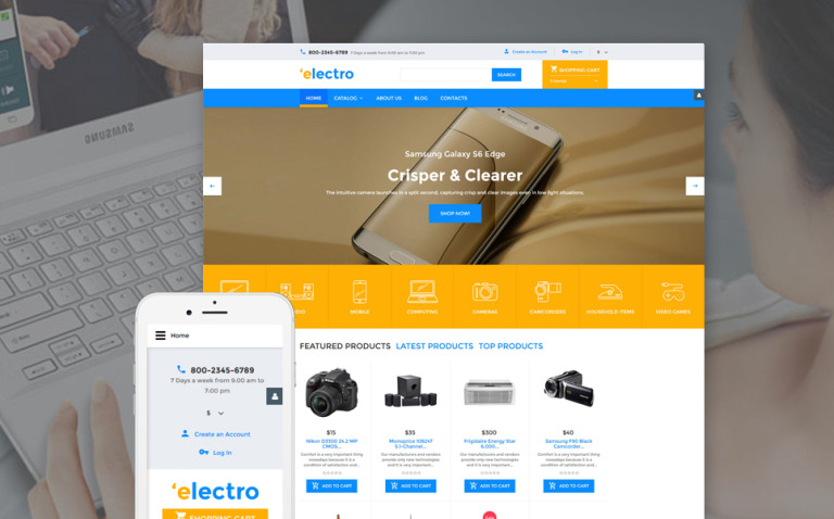 Electro VirtueMart Template New Screenshots BIG