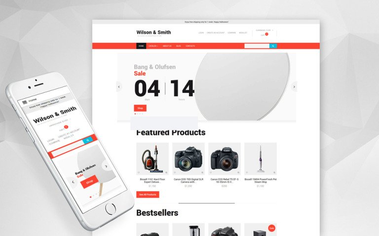 Electronics Store Responsive VirtueMart Template New Screenshots BIG