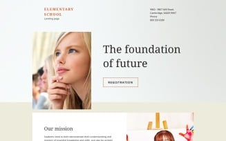 Elementary School Responsive Landing Page Template