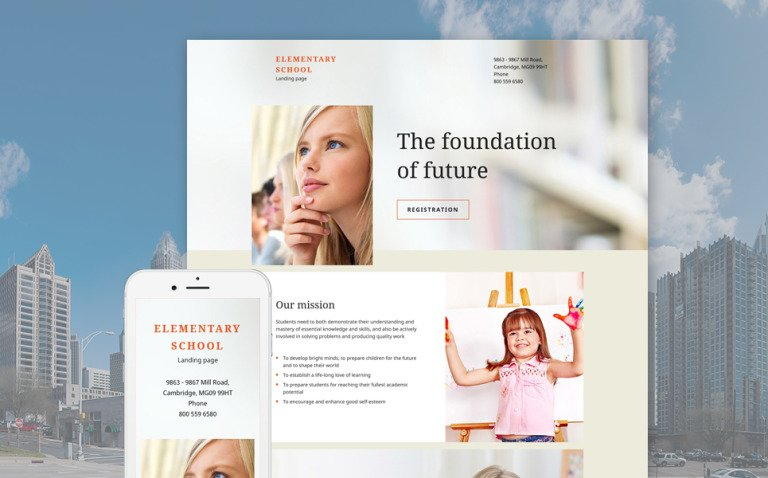 Elementary School Responsive Landing Page Template New Screenshots BIG
