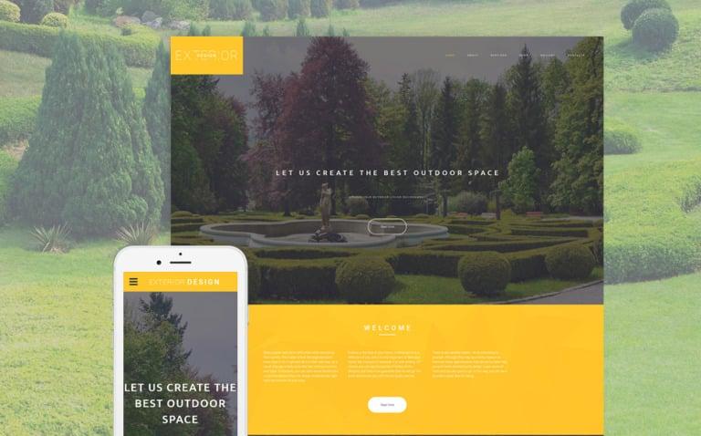 Exterior Design Responsive Website Template New Screenshots BIG