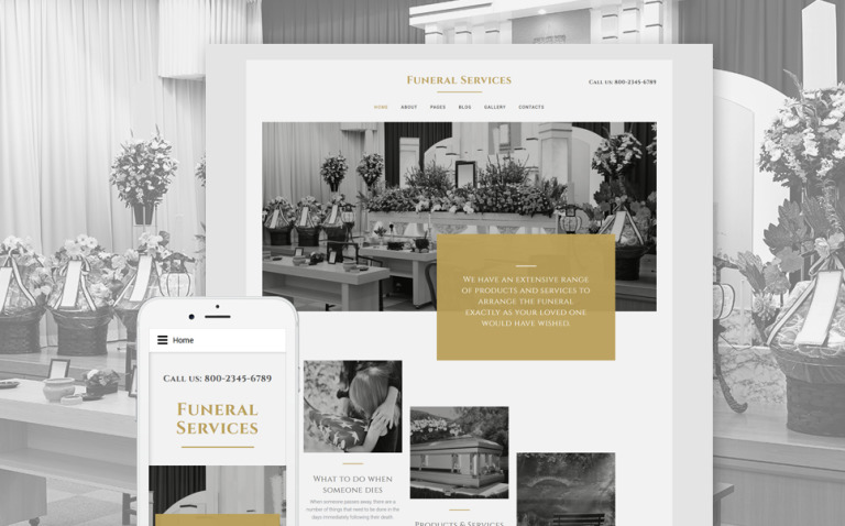 Funeral Services Joomla Template New Screenshots BIG