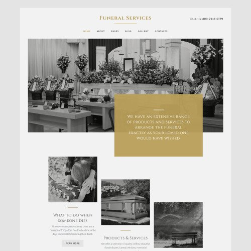 Funeral Services - Joomla! Template based on Bootstrap