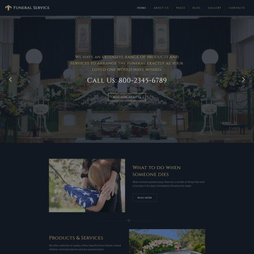 Funeral Service - Joomla! Template based on Bootstrap