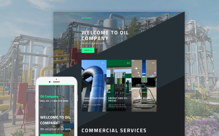 Gas & Oil Responsive Landing Page Template New Screenshots BIG