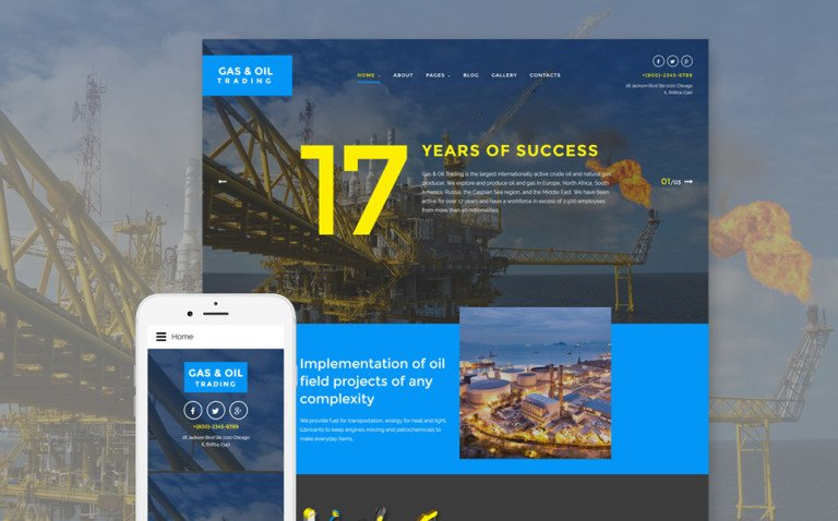 Gas & Oil Trading Joomla Template New Screenshots BIG