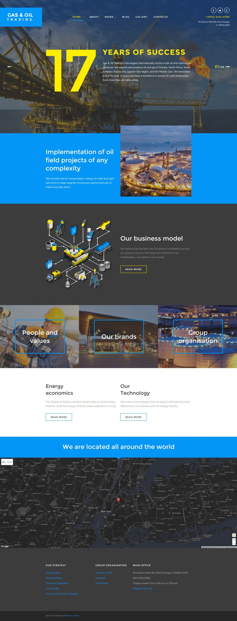 oil and gas company joomla template, Presentation templates