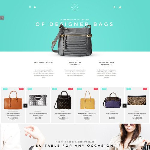 Of Designer Bags - Shopify Template based on Bootstrap