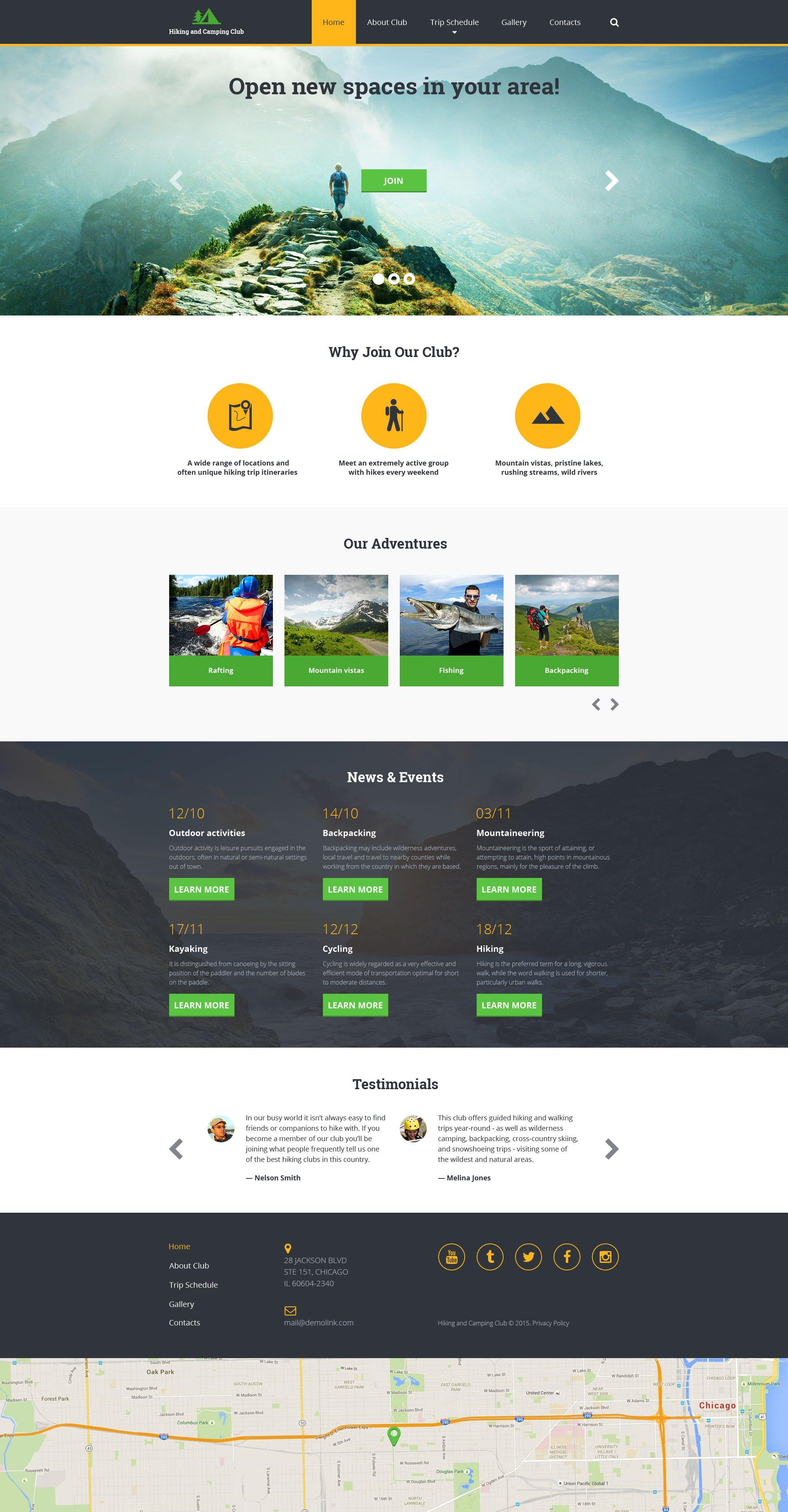 Hiking Responsive Website Template - screenshot