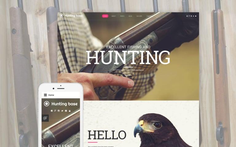 Hunting Joomla Template New Screenshots BIG