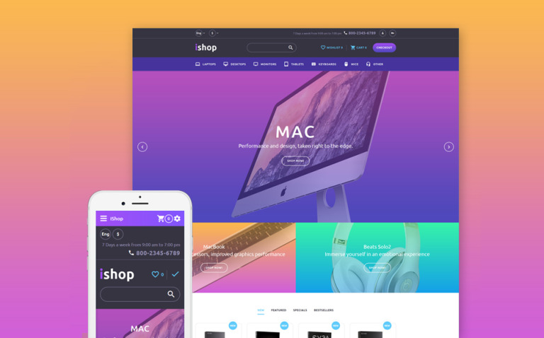 iShop - Computer Store Responsive OpenCart Template New Screenshots BIG