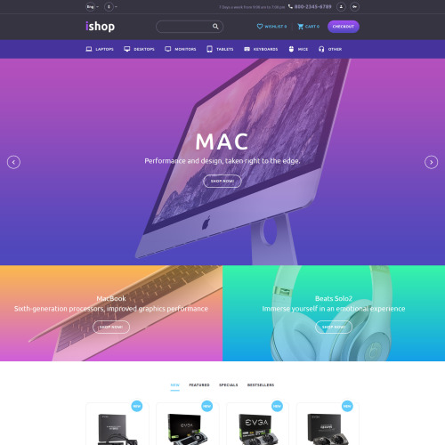 Ishop - OpenCart Template based on Bootstrap