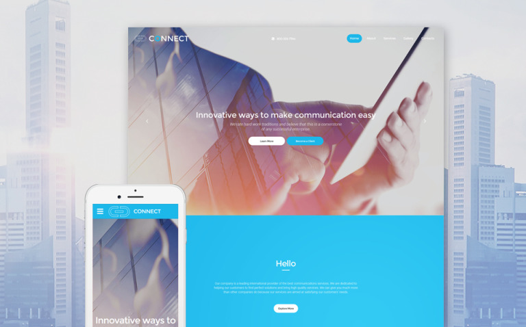 ISP Responsive Website Template New Screenshots BIG