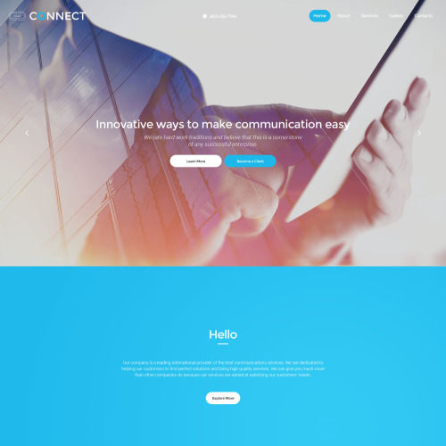 Conect - Responsive Website Template