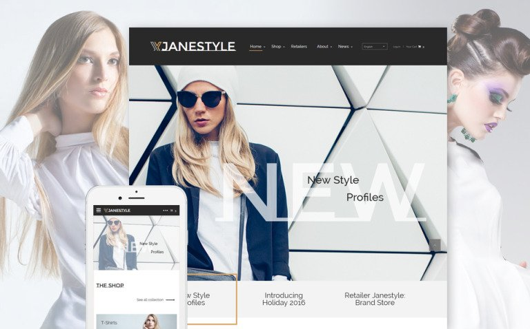 JaneStyle - Fashion Website Template New Screenshots BIG