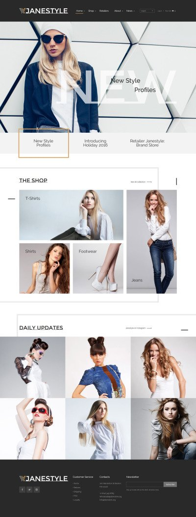 Fashion Website Templates Templatemonster