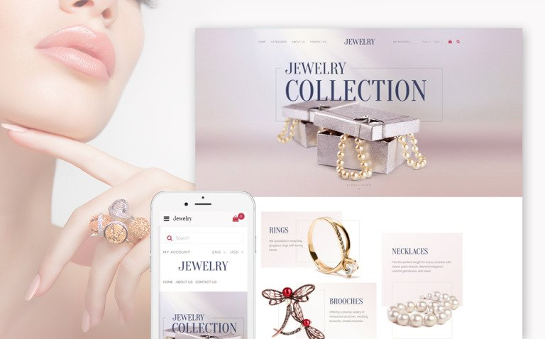 Jewelry Collection - Fashion Jewelry OpenCart Template + RTL New Screenshots BIG
