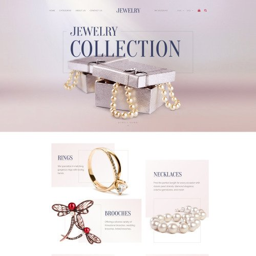 Jewelry Collection - Jewelry Template based on Bootstrap