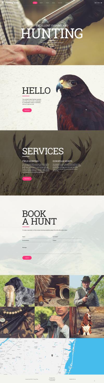 Адаптивный Joomla шаблон №58205 на тему охота