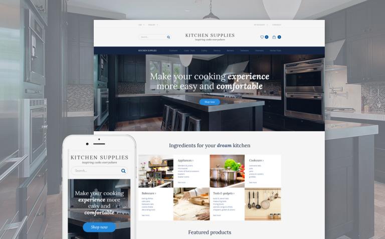 Kitchen Supplies - Kitchen Furniture OpenCart Template + RTL New Screenshots BIG