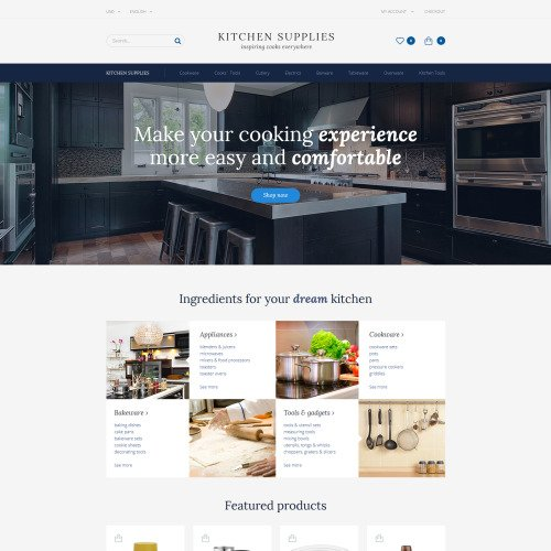 Kitchen Supplies - OpenCart Template based on Bootstrap