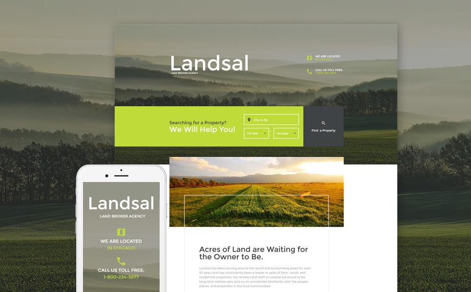 Land Broker Responsive Landing Page Template New Screenshots BIG