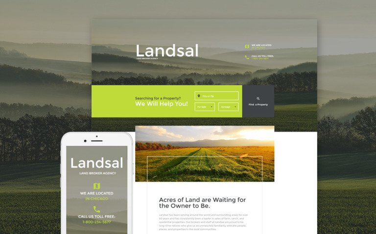 Land Broker Responsive Landing Page Template New Screenshots BIG