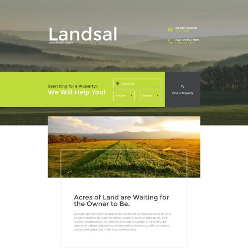 Landsal - Responsive Landing Page Template