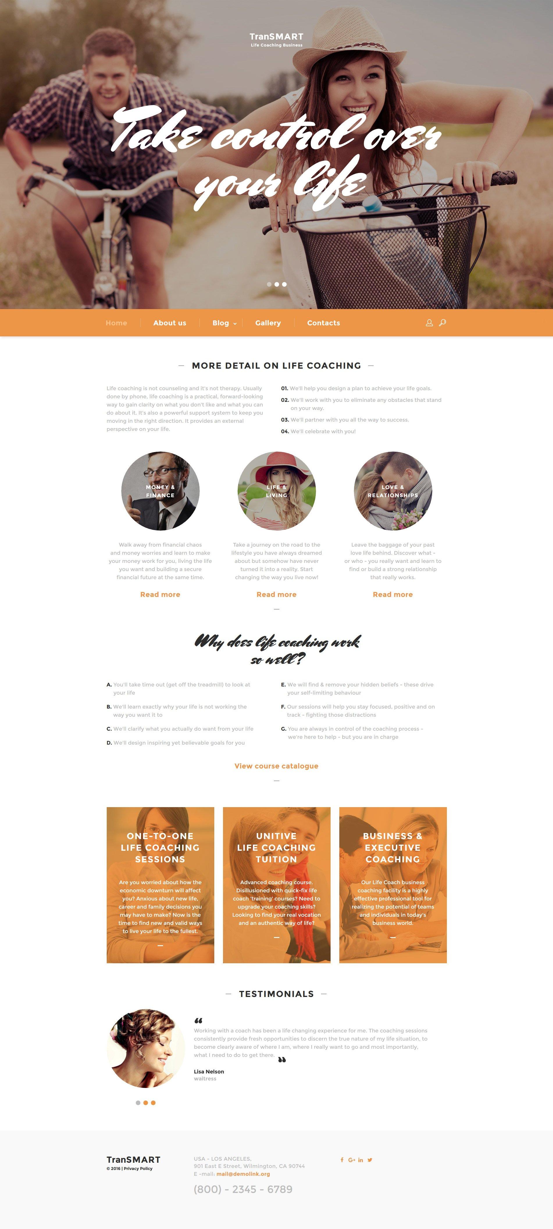 life coach web template. Black Bedroom Furniture Sets. Home Design Ideas