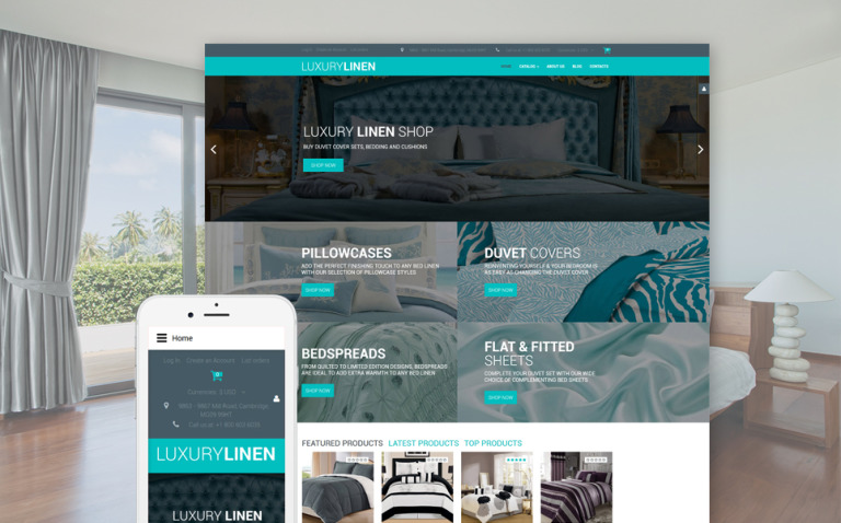 Linen & Lace Responsive VirtueMart Template New Screenshots BIG