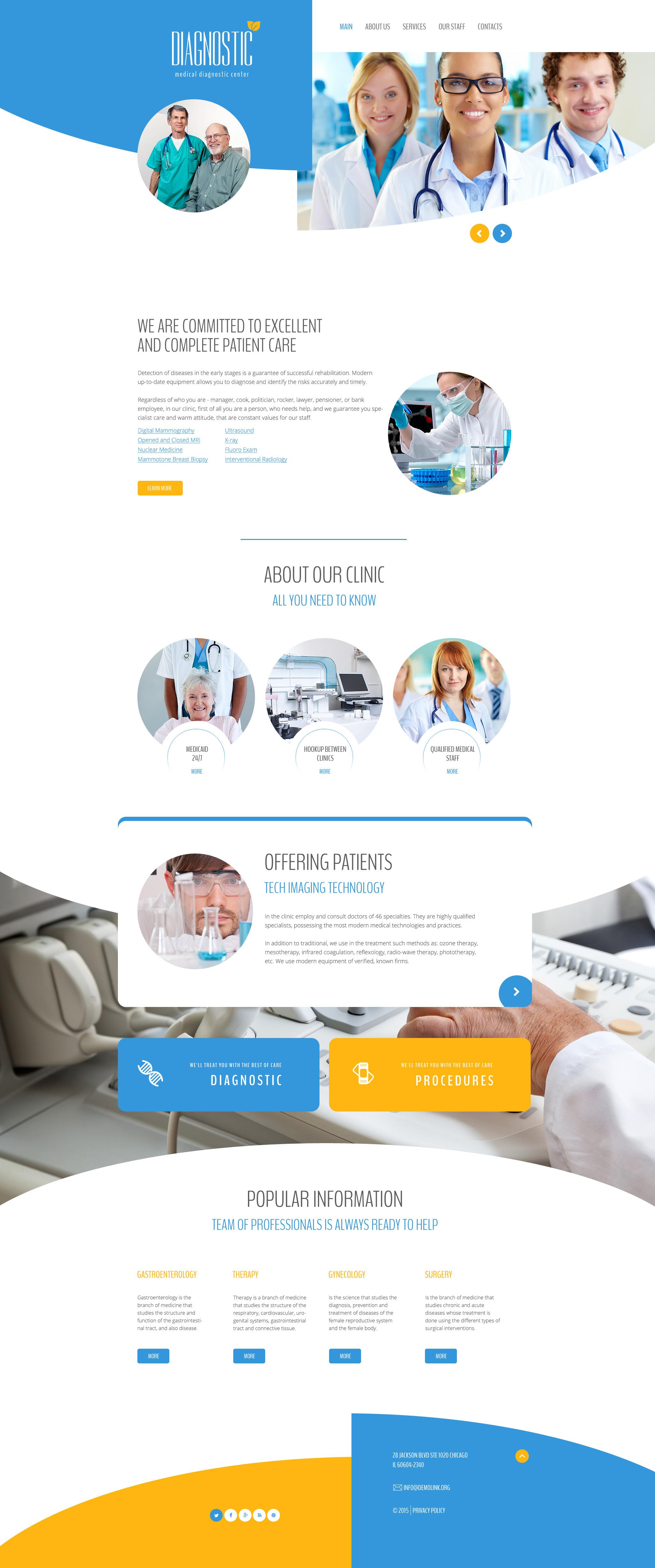 Modèle Web adaptatif pour site médical #58241