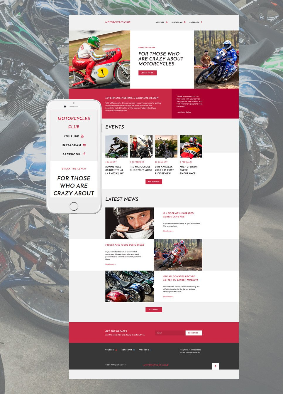 Motor Sports Responsive Landing Page Template New Screenshots BIG