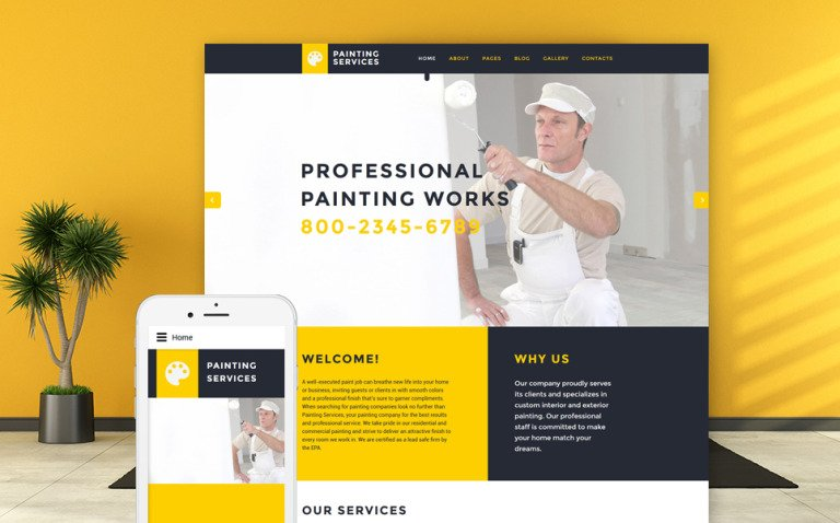 Painting Services Joomla Template New Screenshots BIG