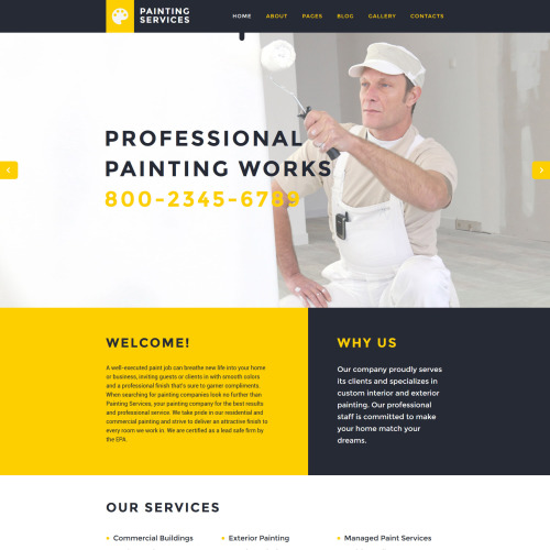 Painting Services - Joomla! Template based on Bootstrap