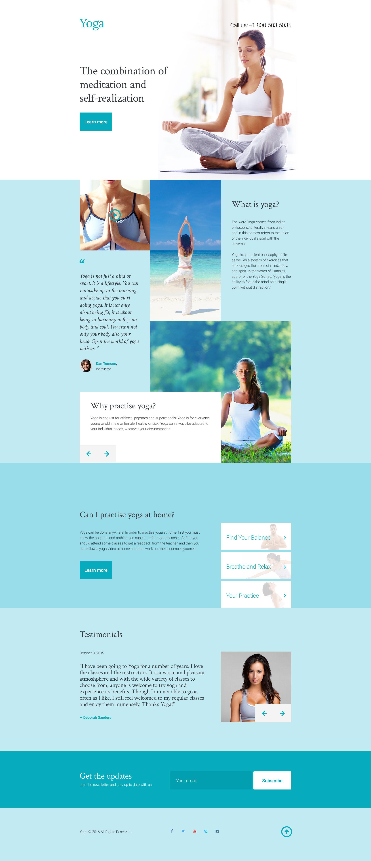 Plantilla para Página de Aterrizaje #58228 para Sitio de Yoga