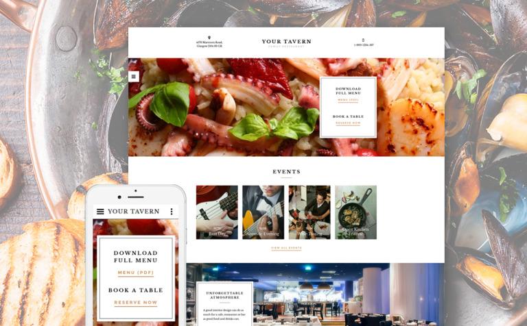 Plantilla Web #58283 para Sitio de Cafeterías y Restaurantes