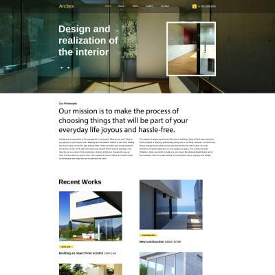 Plantillas para sitios de arquitectura for Arquitectura sitio web