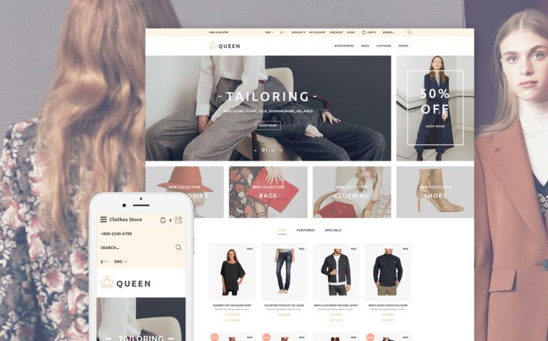 Queen - Fashion Store OpenCart Template New Screenshots BIG