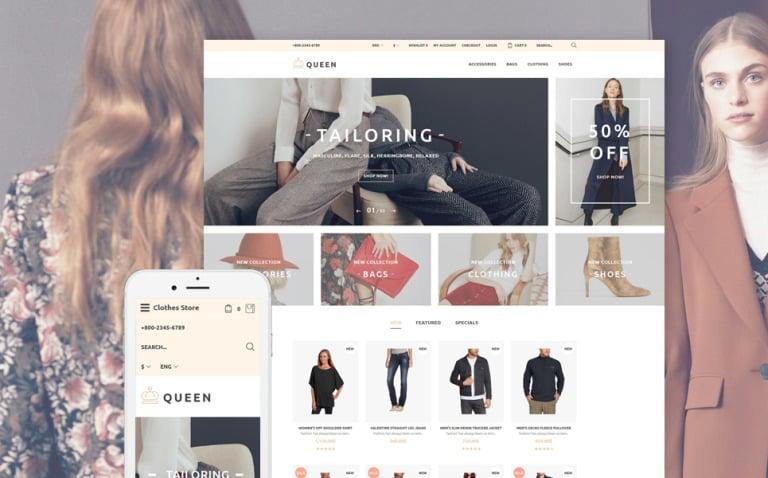Queen - Fashion Store OpenCart Template New Screenshots BIG