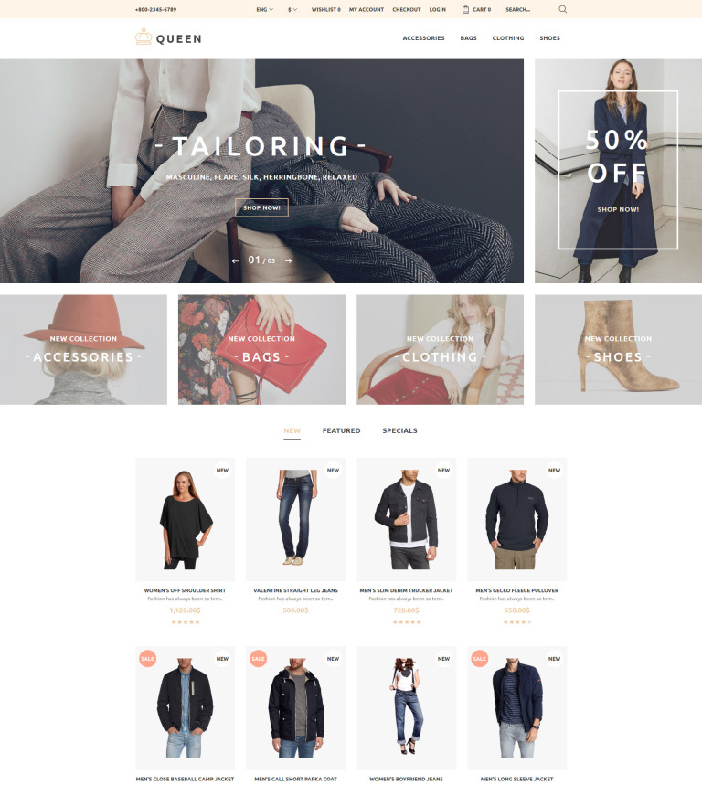 Clothing store opencart theme queen fashion store opencart template new screenshots big maxwellsz