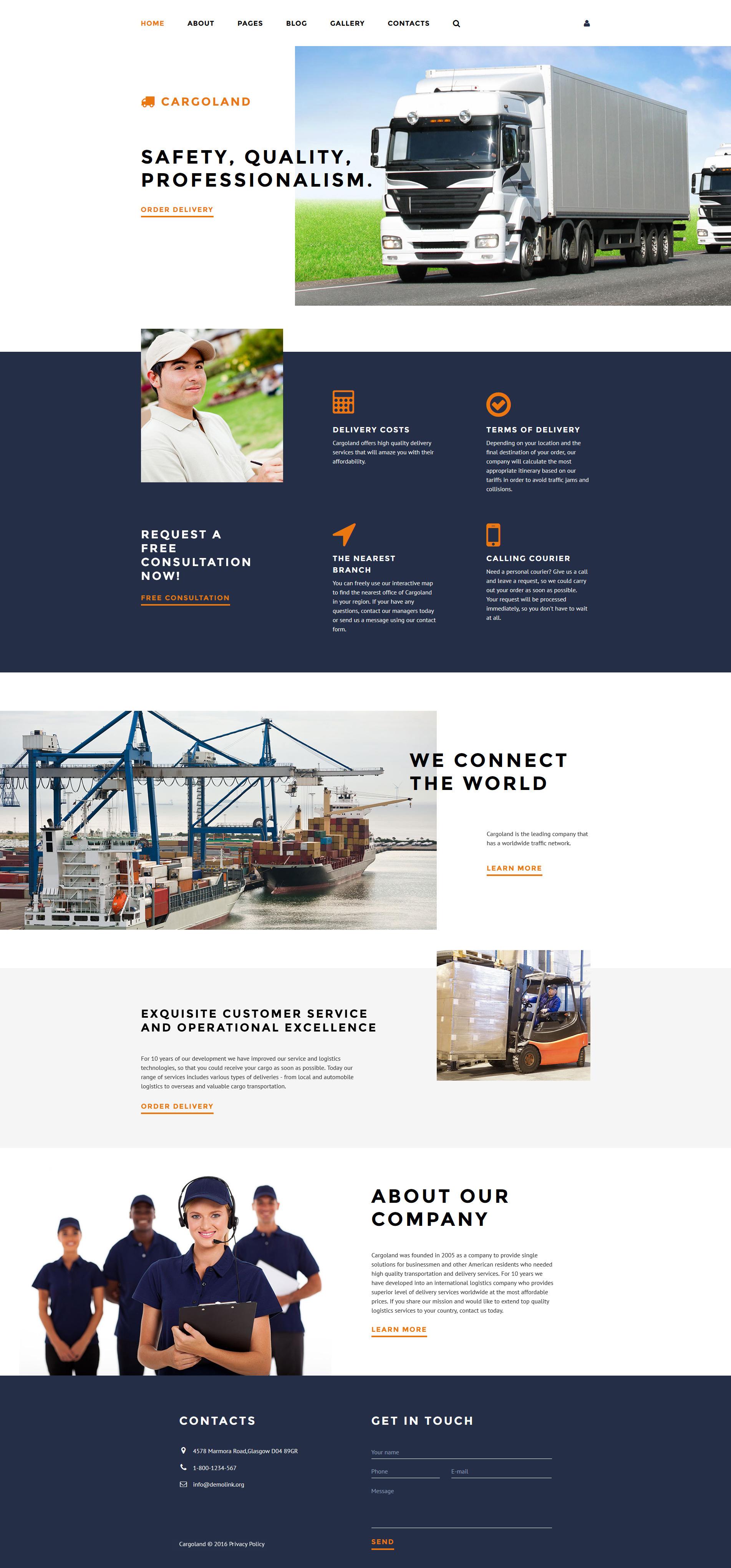 Responsive Cargoland Joomla #58227