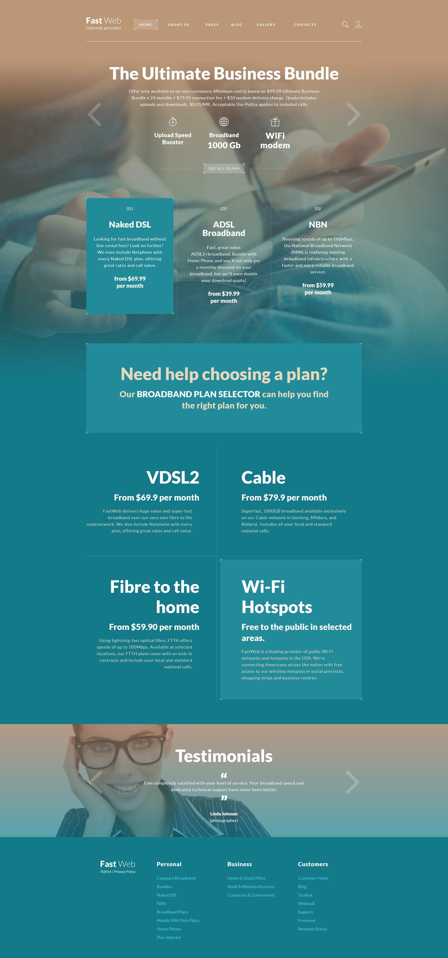 Responsive Fast Web Joomla #58272 - Ekran resmi