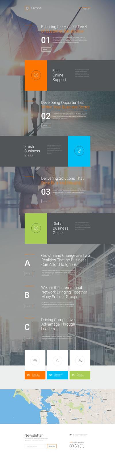 Responsives Landing Page Template für Business und Dienstleistungen