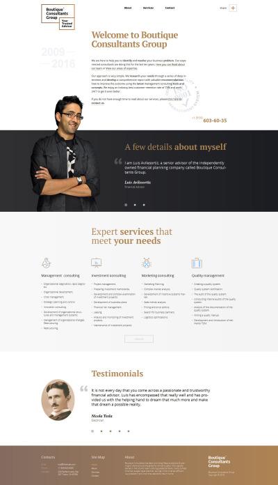 Responsives WordPress Theme für Finanzberater  #58218